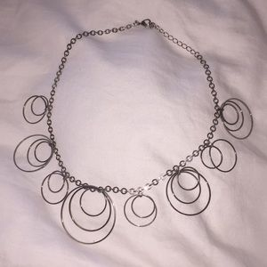 Hooped silver necklace 8 inches